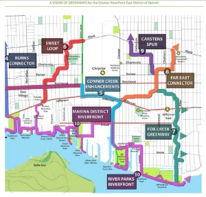 Eastside greenway plan map